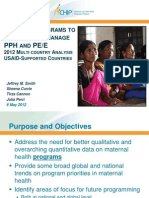 Smith_Tracking the Progress of PPH and PE E Programs a Multi Country