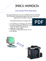 Konica Minolta Printer Setup Guide V1.11