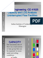 Capacity and LOS for Uninterrupted Flow_IITKGP