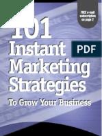 101 Instant Marketing Strategies