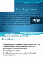 Storing & Issuing Controls