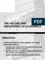 (B) the Nature and Importance of Economics (Revised)