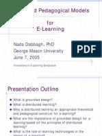 Grounded Pedagogical Models