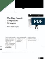 Five Generic Business Level Strategies Thompson Et Al Chap5