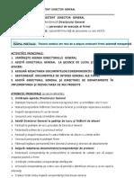 3.3.2. Fisa de Post - Asistent Director General