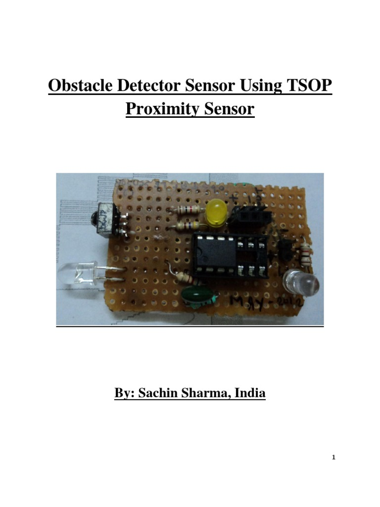 Tsop Based Obstacle Detector Sensor An Infrared Or Ir Circuit Diagram Using 555 Ic Used