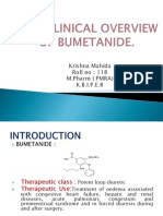 Non Clinical Overview of Bumetanide