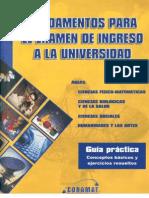 GUIA UNAM CONAMAT FUNDAMENTOS PARA EL EXAMEN DE INGRESO