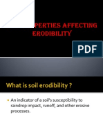 Soil Properties Affecting Erodibility