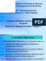 Files 2-Lectures Ch 05 Problem Definition and the Research Proposal