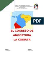Congreso de Angostura y Cosiata