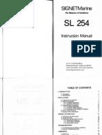 SL254 Manual