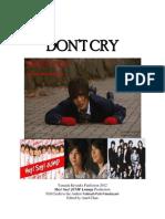 Don't Cry (Yamada Ryosuke Fan Fiction)