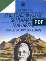 Be as You Are - The Teachings of Sri Ramana Maharshi