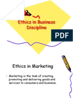 Ethics in Business Discipline
