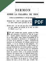 Carlos Frey de Neuville S.J.  Sermon sobre la Palabra de Dios