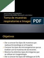 Toma de muestras respiratorias e Imagenología