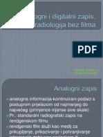 Analogni i Digitalni Zapis, Radiologija Bez Filma