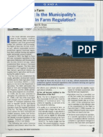 Right to Farm Municipality Role
