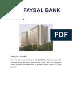 Faisal Bank Report
