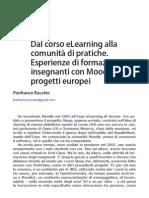 2012 - Dal corso eLearning alla comunità di pratiche. Esperienze di formazione insegnanti con Moodle in progetti europei(Bricks Numero 4)