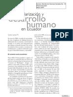 Dolarizacion y Desarrollo Humano en Ecuador - Larrea