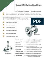 FM10 Turbine Flow Meters-Ic