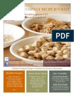 Gourmetco Bfast Recipe Book