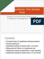 2 Testing Hypothesis Levin Rubin Chpt8