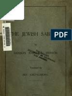 Jewish Sabbath Hi Rsi Ala