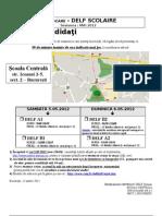Convocation DELF Scolaire Ecole Centrale Mai 2012