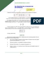 résolution de l'équation de chaleur par la méthode de séparation de variable