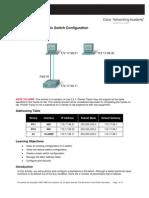 PT Activity 2.5.1 Basic Switch Configuration