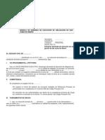 MODELO DE DEMANDA DE EJECUCION DE OBLlGA¬CION DE DAR SUMA DE DINERO
