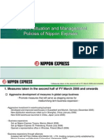Current Situation and Management Policies of Nippon Express (1)