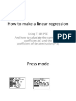 How to Make a Linear Regression