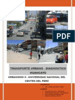 Transporte Urbano_Diagnostico Huancayo