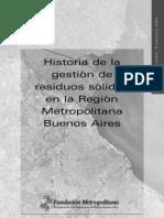Historia de la gestión de residuos sólidos en la Región Metropolitana Buenos Aires