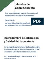 Incertidumbre de calibración - 2