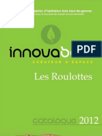 Catalogue Roulottes Bois Innova Bois 2012