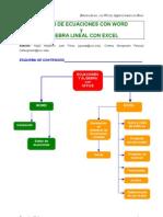 Ecuaciones Lineales en Excel