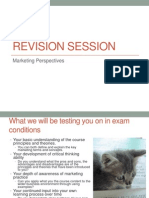 Revision Session Marketing Perspectives 1