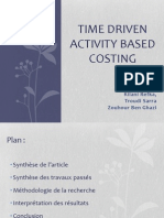 Time Driven activity based costing TD ABC