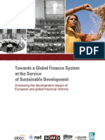 Towards a Global Finance System at the Service of Sustainable Development