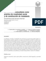 LA MEDICACIÓN COMUNITARIA COMO PRÁCTICA DE CREATIVIDAD SOCIAL Y DE CONSTRUCCIÓN DE CIUDADANÍA