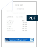 Report on Ethics in MNEs