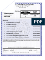 Adam Williams Teaching Certificate