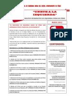 Boletín Informativo I.U de Férez. Mayo 2012. 20 páginas