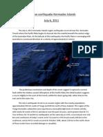 Massive Earthquake Kermadec Islands