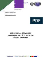 Manual de Formação Serviço de mesa